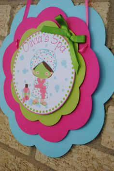 NEW  Pamper Me Spa Party Door Sign by mlf465 on Etsy, $12.50