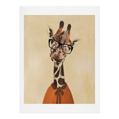 Coco de Paris Clever Giraffe Art Print