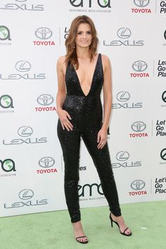 Stana Katic (actress) attends the 25th annual EMA Awards presented by Toyota and Lexus and hosted by the Environmental Media Association at Warner Bros. Studios on October 24, 2015 in Burbank, California.