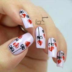 Uñas decoradas de San Valentín - Love Nails | Decoración de Uñas - Manicura y NailArt - Part 5
