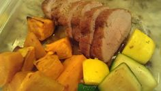 Pan seared pork tenderloin with AppleJack brandy butter, roasted sweet potatoes and sauteed fresh zucchini and squash.    Friend That Cooks personal chefs prepare healthy meals on a weekly basis for families with busy schedules, dietary restrictions and food allergies in the Kansas City and Wichita metro areas. Learn more at www.friendthatcooks.com.