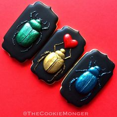 Love Bug Cookies - scarabs - Cookie Monger via Cookie Connection