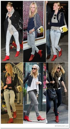Kate Bosworth vs Sienna Miller - they both love their Chloe 'Susanna' boots in fire engine red! Which is your favourite outfit? Click through to buy the boots!BUY YOURS HERE :http://www.ebay.co.uk/itm/221342633586?ssPageName=STRK:MESELX:IT&_trksid=p3984.m1555.l2649