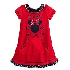 Disney Store Minnie Mouse Mouseketeer Nightshirt for Girls
