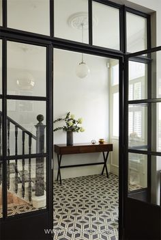 Killer Entryway Inspiration Check out these amazing entryway tile floor ideas for your foyers Tiled Hallway, Entry Hallway, Tile Entryway, Entryway Flooring, Hall Tiles, Entry Tile, White Hallway, Entry Doors, Entryway Decor