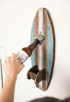 Kalalou Wooden Surfboard Bottle Opener