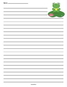 Whale Lined Paper  Writing Paper