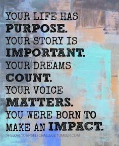 Here is this week's #motivationalMonday thought for the week...#youmatter  Thanks you to Julie from @Pamela Estes Company for posting on G+.  https://www.facebook.com/photo.php?fbid=591445710920635&set=a.214588545273022.53164.166320873433123&type=1&theater