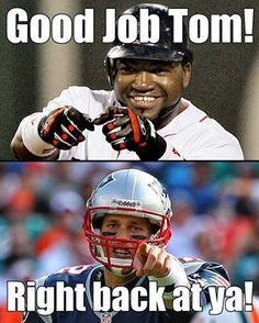 """From """"Big Papi"""" David Ortiz of the Redsox to Tom Brady of the Patriots."""