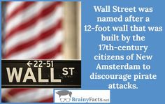 Random Facts : Wall Street | did you know