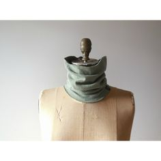 Neck Warmer T-Shirt Neck Warmer Tee Cowl Neck Warmer Olive Green... (25 CAD) ❤ liked on Polyvore featuring tops, t-shirts, olive t shirt, unisex tops, cotton tees, army green t shirt and unisex tees