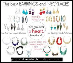 The best earrings and necklaces for heart face shape