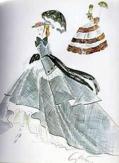 "Adrian Costume Design Sketches for ""Camille"", 1936"