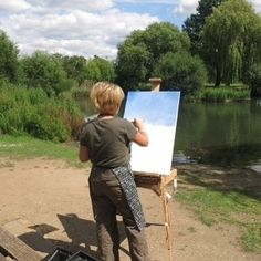 I found my solace in my art . Sunny day #sunnyday #pleinair #loveofart #outdoorpainting #hampond #kingstonuponthames #richmond#hamcommon #happydays #beautiful #beautifulday #summer #summerdays #artwork #art #instamood#instagram #picoftheday
