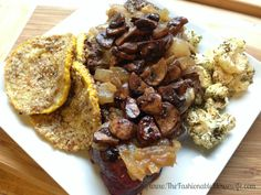 beef with almond encrusted summer squash and dill roasted cauliflower #glutenfree #paleo #beef #mc #spon