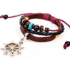 The bead bracelet rudder pendant karma bracelet by eternalDIY, $4.99