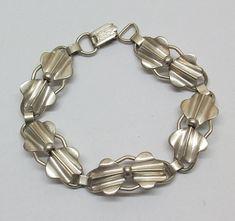 Altes Armband Silberarmband 60er Jahre Silber 835 von Schmuckbaron