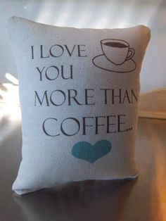 Love quote pillow birthday gift coffee throw pillow soft cotton cushion