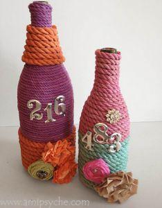 Bottle Art Waste Paper Management Crafts From