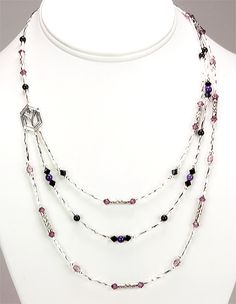 Jewelry Making Idea: Wild Orchid Evening Necklace