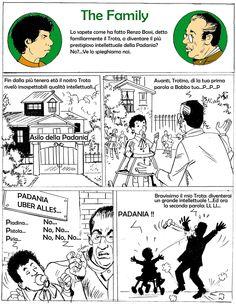 """Volete sapere come ha fatto """"Il Trota"""" a diventare il più prestigioso intellettuale della Padania? Ve lo spiega Italian Comics:"""