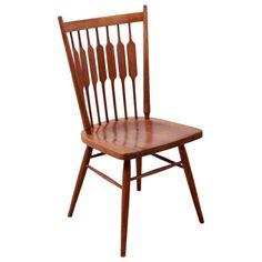Kipp Stewart Desk Chair 'Centennial' in Solid Walnut by Drexel USA, 1950s | 1stdibs.com