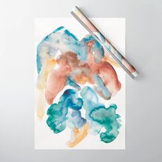 valourine - (via 11 Watercolor Flower Background, Watercolor Sunset, Watercolor Artists, Watercolor Pattern, Abstract Watercolor, Abstract Canvas, Canvas Art, Watercolour Painting, Tattoo Watercolor