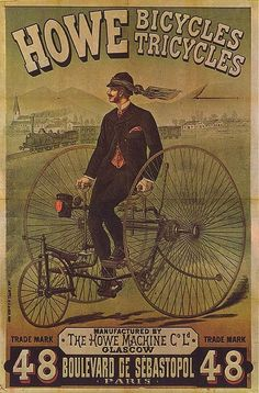 "Vintage How Bicycles advertisement ~ I was pinning items on my ""Blast From the Past"" Pinterest board & I came across this ad. I don't remember this advertisement or product but it is a bad ass illustration! ~"