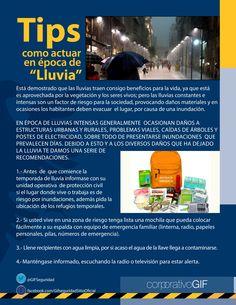 Tips de Seguridad #época de Lluvia