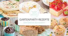 Die besten Backrezepte für Gartenfeste, Grillabende und Sommerpartys: süß und pikant, von Blechkuchen und Muffins über Knabberzeug bis Brot.