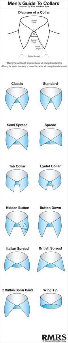 Men's Shirt Collars | Overview of Different Men's Dress Shirt Collars