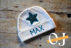 Personalized Boy Newborn Star Gift Set Name Boy Blue by ojdesign