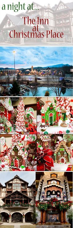 A Night at The Inn at Christmas Place in Pigeon Forge, Tennessee. OK DEFINITELY ON MY BUCKET LIST NOW!!