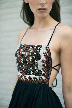 Beaded Bohemian Maxi Dress