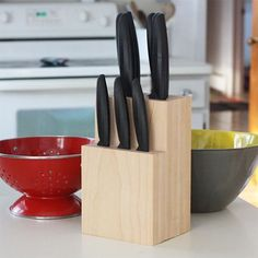 How to make your own knife block