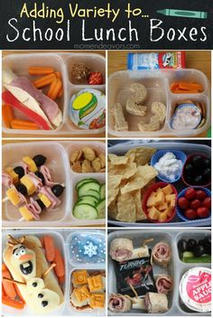 Great ideas for adding variety to school lunch boxes! #backtoschool