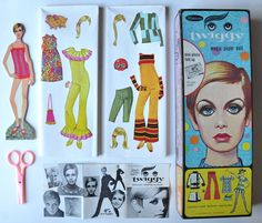 Twiggy Paper Doll Cut Outs--also had this set.  Love the clothes in both paper doll sets.