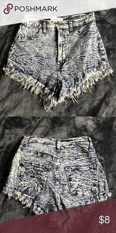 High-Waisted Jean Shorts Size Small ***NOT BRANDY MELVILLE JUST FOR EXPOSURE*** Brandy Melville Shorts