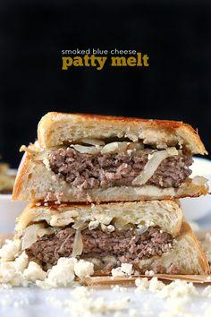 Smoked Blue Cheese Patty Melts