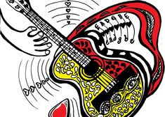 Guitar Love Greeting Card for Sale by Colleen Proppe Valentine Day Gifts, Valentines, Guitar Art, Red Art, Card Tags, Basic Colors, Note Cards, Colorful Backgrounds, Fine Art America