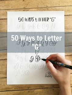 Hey everyone! I hope you have had a great week! Today, I am back with the  next installment of the 50 Ways series!  Turns out that 'G' is a lot of fun!! Here are 50 'G's, straight from my  brain! I hope you enjoy tracing them as much as I have. These worksheets  have helped me to steady my hand just as much as anything else.  Note: The worksheet is no longer in PDF Form! A lot of y'all want to use  your worksheets in Procreate for iPad lettering practice. Because of this,  the worksheets are…