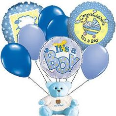 welcome new baby boy graphics and comments Birthday Wishes For Daughter, Baby Boy Birthday, Happy Birthday, Baby Born Congratulations, Baby Boy Balloons, Blue Balloons, Welcome New Baby, Best Baby Blankets, Baby Boy Themes