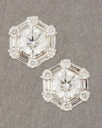 Roberto Coin | Silver Octagon Earrings | Lyst