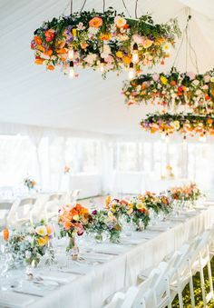 Gorgeous flower chandeliers