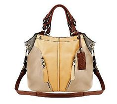 orYANY Pebble Leather Colorblock Victoria Large Hobo