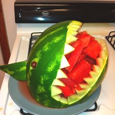 Made it myself! Shark watermelon!