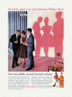 Johnnie Walker 1965 print ad.
