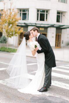 Waltz length Wedding Bridal Veil 54 inches white, ivory, Wedding veil Long…