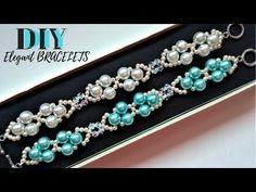 3 Beaded Bracelets-3 Beading Designs. How to make Bracelets. Easy tutorial - YouTube
