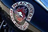 Biker Clubs, Motorcycle Clubs, Head Hunter, Red And White, Black, Porsche Logo, Hunters, New Zealand, Hoods